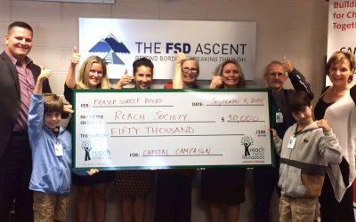 Fraser Surrey Docks Donate $50,000 To Reach