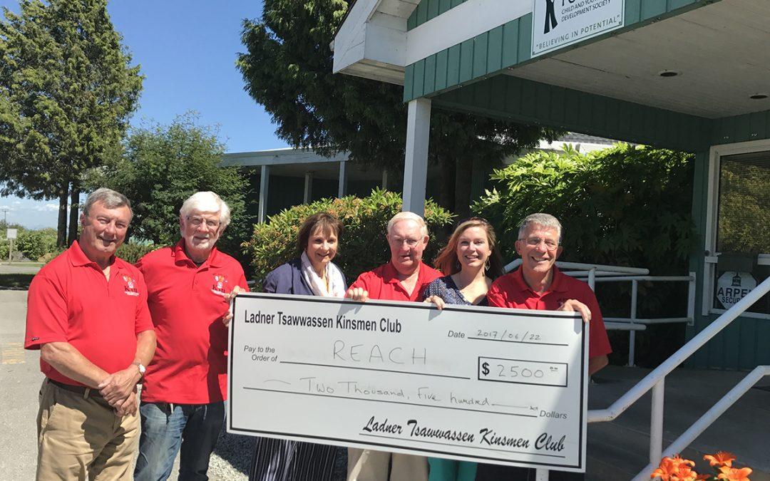 Kinsmen Of Ladner Tsawwassen Donate $2500