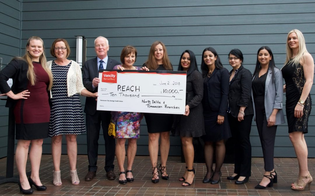 North Delta and Tsawwassen Vancity Branches Support REACH